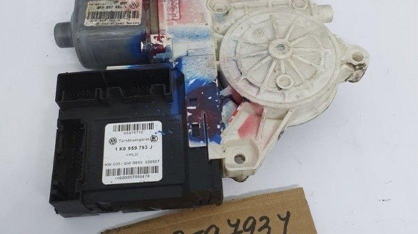 Motoras macara cu modul usa stanga fata Skoda Octavia 2 1Z3 2004-2013 1K0959793J / 1K4837401S