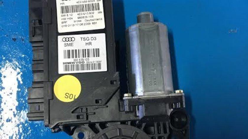 Motoras macara geam dreapta fata Audi A8 An 2004-2009, 3.0 tdi, ASB, limuzina cod 4E0959802A