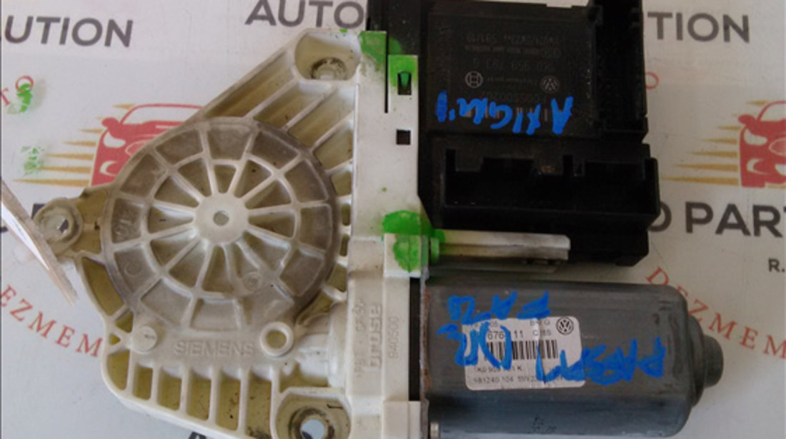 Motoras macara geam dreapta fata VOLKSWAGEN PASSAT B6 2005-2010