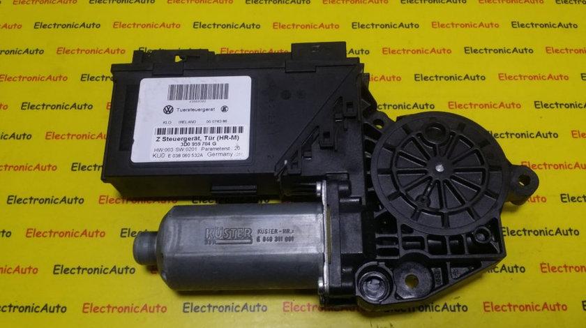Motoras Macara Geam Dreapta Spate Vw Phaeton, 3D0959704G, E038060532A, 0130821964