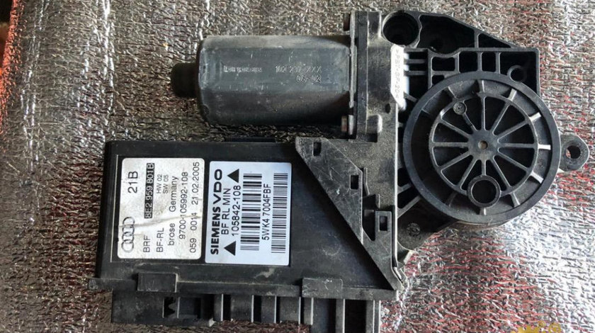 Motoras macara geam stanga fata cu modul Audi A4 (2004-2008) [8EC, B7] 8e2959801b