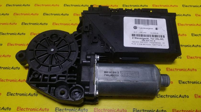 Motoras Macara Geam Stanga Spate Vw Phaeton, 3D0959703G, E038060531A, 0130821965