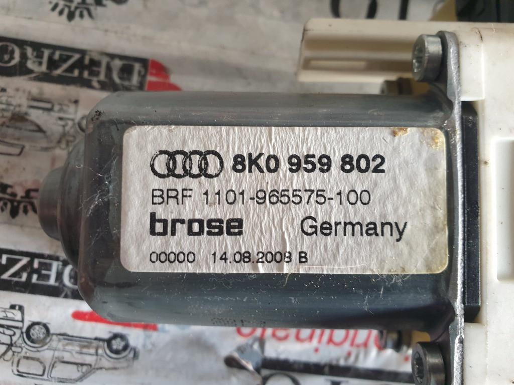 Motoras macara usa dreapta fata Audi A4 B8 cod piesa : 8K0959802