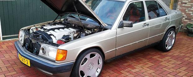 Motorul de 600 SEL, el l-a pus intr-un Mercedes din '84. Acum conduce probabil cel mai tare 190 din lume
