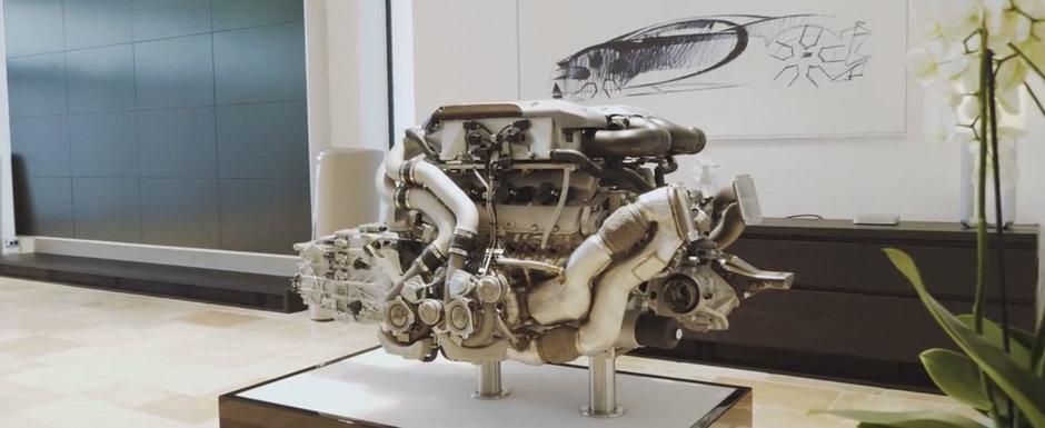 Motorul noului Bugatti Chiron cantareste mult mai mult decat ti-ai fi putut inchipui vreodata