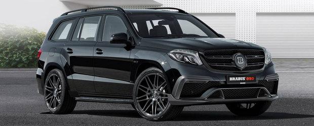 Multe accente aurii si 850 de cai putere sub capota. Cu alte cuvinte, Mercedes GLS63 tunat de Brabus