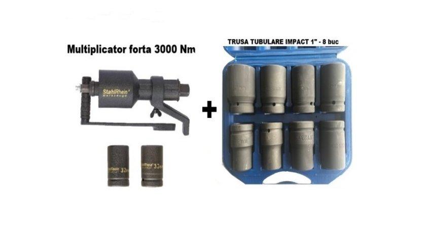 Multiplicator forta 3000 NM + Tr tubulare 8 buc/ Tr (SM100+S595)
