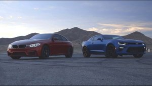 Muscle car-ul american vs. coupe-ul european: Comparatie intre BMW M4 Coupe si Chevrolet Camaro SS