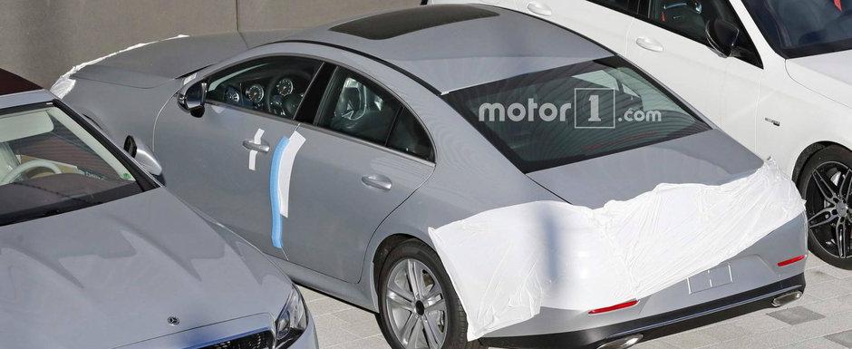 N-a mai ramas mare lucru de facut. Noua generatie Mercedes CLS apare tot cu mai putin camuflaj