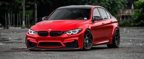 N-ai vazut altul ca el. Un BMW M3 in Satin Red face senzatie pe internet