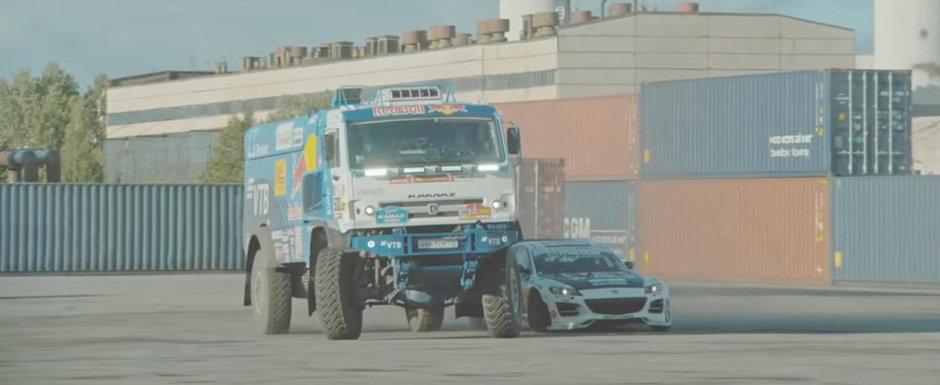 N-ai vazut ceva mai tare. DRIFT cu celebrul Mad Mike si un camion de 9 tone care participa la DAKAR