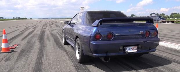 N-am mai vazut de mult unul in actiune. Acest Nissan R32 GT-R si-a dezlantuit toti cei 680 de cai pe pista