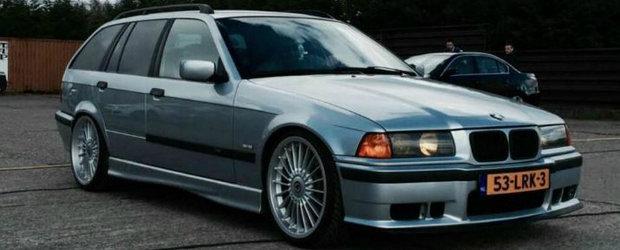 N-o avea el chiar toate bandourile laterale, insa tu oricum pentru motor il vrei. Pretul acestui inedit BMW Seria 3
