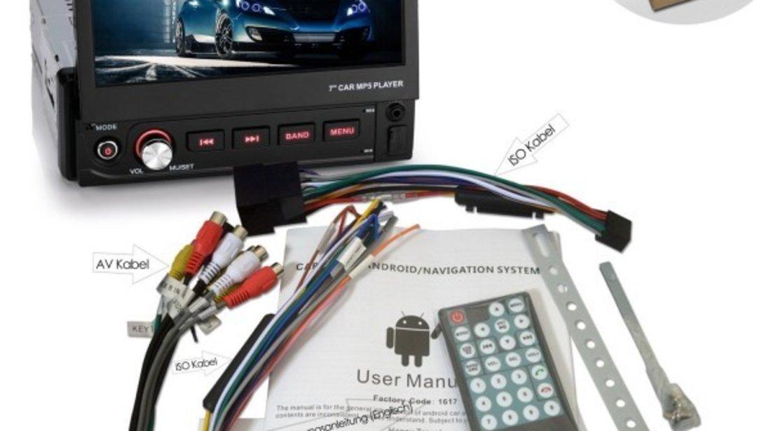 Navigatie Android 1DIN BMW SERIA 3 E36 Ecran 7 Inch Ecran Reglabil INTERNET WAZE EDT-E002