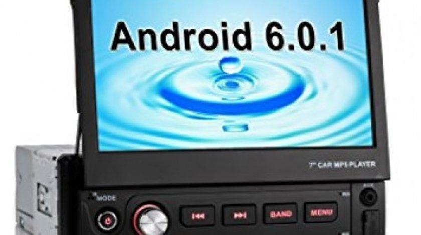 Navigatie Android 1DIN SKODA FABIA Ecran 7 Inch Ecran Reglabil INTERNET WAZE EDT-E002