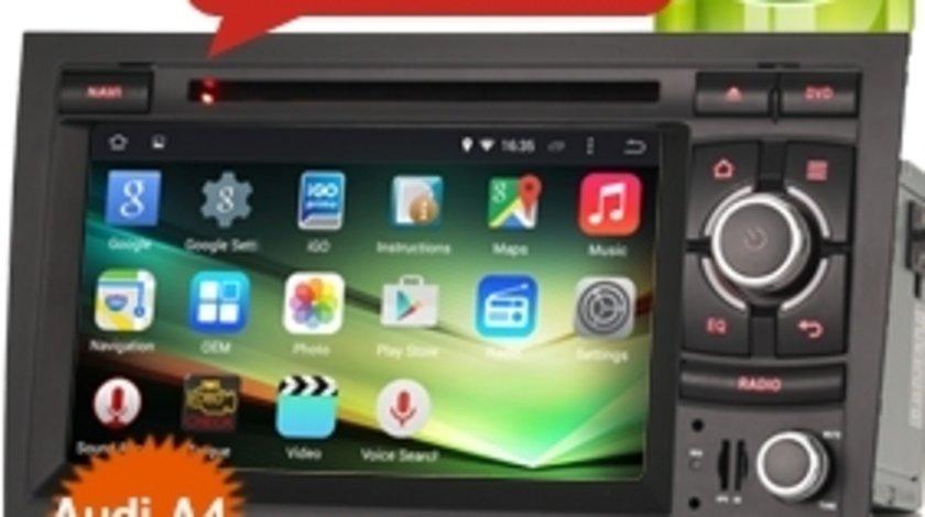 NAVIGATIE ANDROID 4.4.4 DEDICATA AUDI A4 B6 B7 SEAT EXEO INTERNET WIFI 3G PROCESOR QUADCORE 16GB