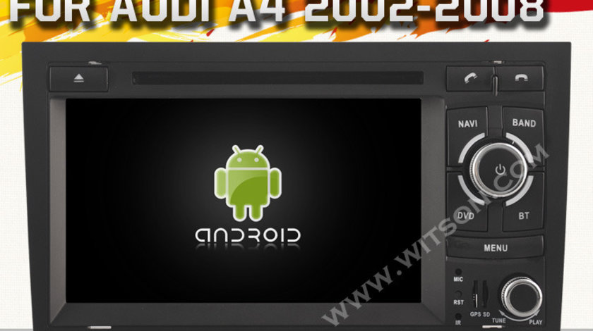 NAVIGATIE ANDROID 4.4.4 DEDICATA AUDI A4 S4 RS4 SEAT EXEO RNS-E WITSON W2-A9764A INTERNET WIFI