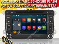 NAVIGATIE ANDROID 4.4.4 DEDICATA VW SKODA SEAT WITSON W2-F9241V INTERNET PROCESOR A9 QUAD CORE 16GB