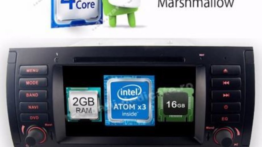 Navigatie Android 6.0.1 BMW X5 E53 Intel 2GB Ram NAVD-i082