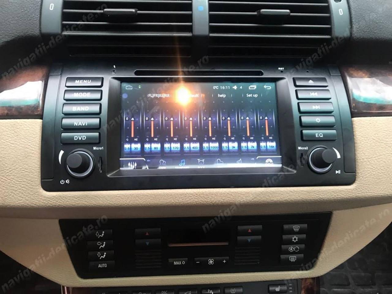 NAVIGATIE ANDROID 6.0.1 DEDICATA BMW X5 E53 (1999 - 2006) QUAD-CORE 2GB RAM 16GB NAVD-i082