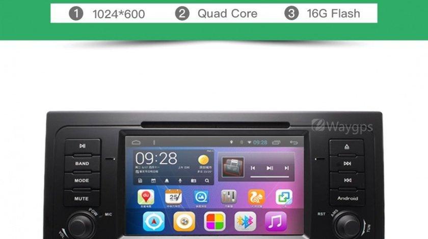 Navigatie Android 6.0.1 Dedicata Bmw X5 E53 Seria 5 E39 E38 Dvd GPS DVR Edotec G082