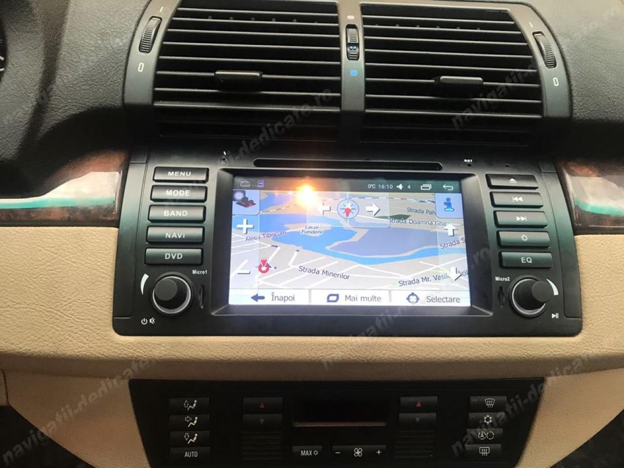 NAVIGATIE ANDROID 6.0.1 DEDICATA BMW X5 E53 SERIA 5 E39 SERIA 7 E38 QUAD-CORE 2GB RAM 16GB NAVD-i082