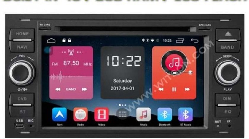 NAVIGATIE ANDROID 6.0 DEDICATA  Ford Focus MK2 WITSON W2-K7488B INTERNET 4G WIFI QUADCORE 1,6GHZ