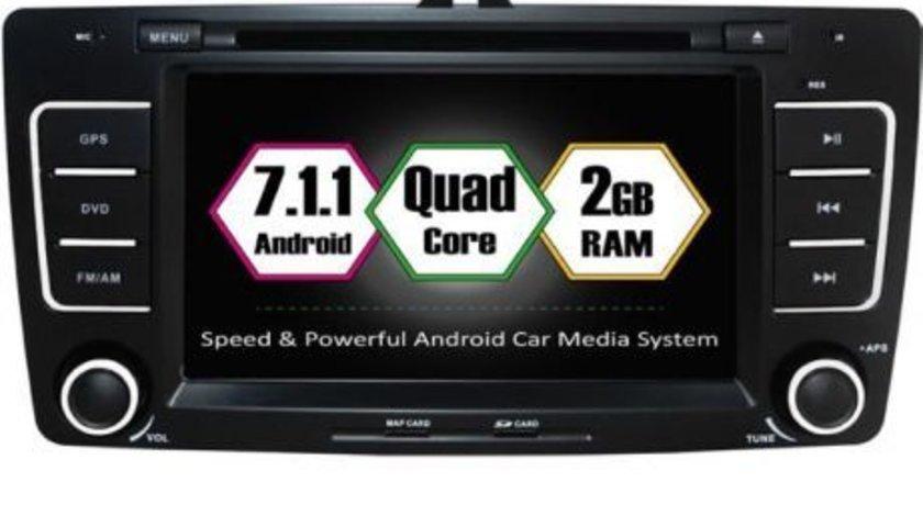NAVIGATIE ANDROID 7.1.1 DEDICATA SKODA OCTAVIA 2 ECRAN 8'' 16GB 2GB RAM INTERNET 3G WIFI QUAD-CORE