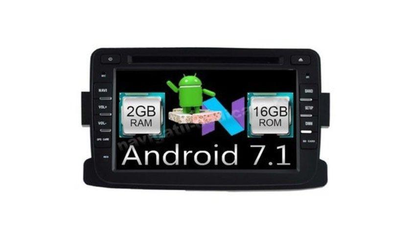Navigatie Android 7.1 Dacia Logan Duster Lodgy Dokker Sandero Renault Captur 2GB RAM WAZE NAVD A5157