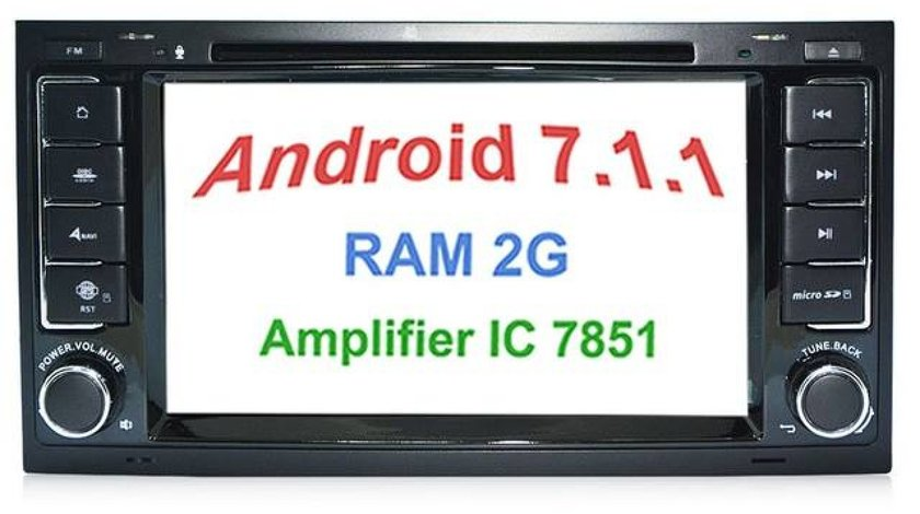 NAVIGATIE ANDROID 7.1 DEDICATA 2DIN 2GB RAM DVR CARKIT GPS NAVD-A9200