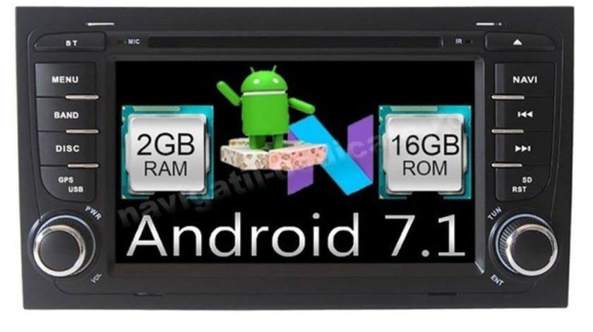 NAVIGATIE ANDROID 7.1 DEDICATA AUDI A4 B6 NAVD-A050 7'' CAPACITIV 16GB 2GB DVD GPS WAZE