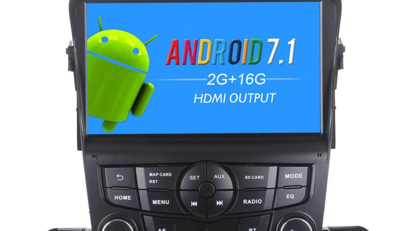 NAVIGATIE ANDROID 7.1 DEDICATA CHEVROLET CRUZE ECRAN 8'' 2GB RAM USB SD PLAYER DVR CARKIT GPS WAZE