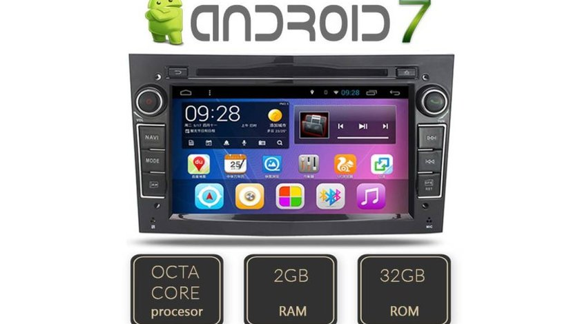 NAVIGATIE ANDROID 7.1 DEDICATA  Opel Zafira B Edotec EDT-G019 OCTACORE 2G RAM 32 GB INTERNET 3G