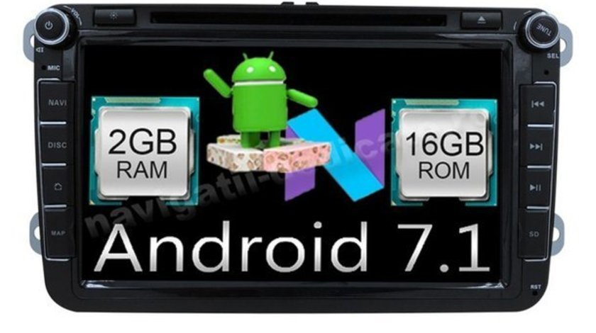 NAVIGATIE ANDROID 7.1 DEDICATA Skoda Rapid NAVD-A9240 ECRAN 8'' CAPACITIV 16GB 2GB RAM INTERNET 3G