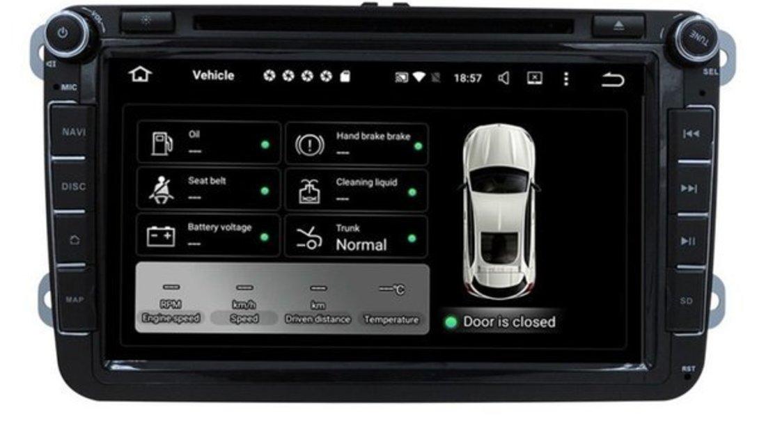 NAVIGATIE ANDROID 7.1 DEDICATA VW Eos NAVD-A9240 ECRAN 8'' CAPACITIV 16GB 2GB RAM INTERNET 3G
