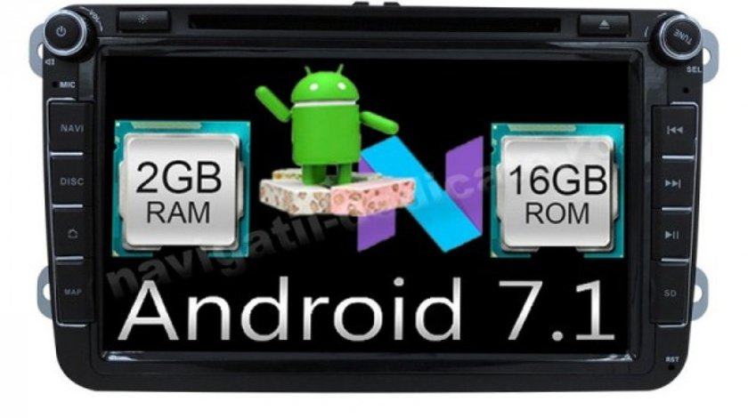 NAVIGATIE ANDROID 7.1 DEDICATA VW GOLF 5 NAVD-A9240 ECRAN 8'' CAPACITIV 16GB 2GB RAM INTERNET 3G