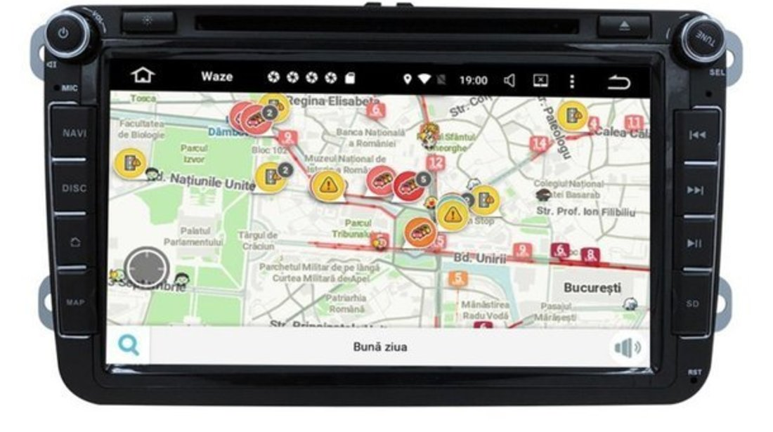 NAVIGATIE ANDROID 7.1 DEDICATA VW Golf MK6 NAVD-A9240 ECRAN 8'' CAPACITIV 16GB 2GB RAM INTERNET 3G