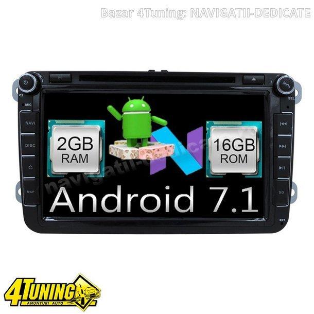NAVIGATIE ANDROID 7.1 DEDICATA VW Polo B5 NAVD-A9240 ECRAN 8'' CAPACITIV 16GB 2GB RAM INTERNET 3G