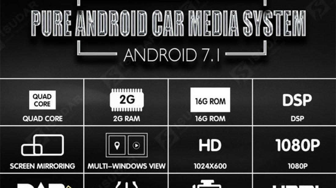 NAVIGATIE ANDROID 7.1 DEDICATA VW Scirocco  NAVD-A9240 ECRAN 8'' CAPACITIV 16GB 2GB RAM INTERNET 3G