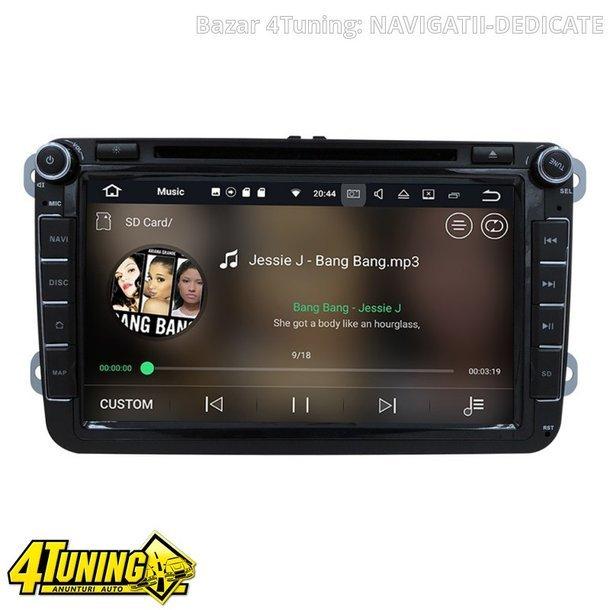NAVIGATIE ANDROID 7.1 DEDICATA VW SKODA SEAT NAVD-A9240 ECRAN 8'' CAPACITIV 16GB 2GB RAM INTERNET 3G