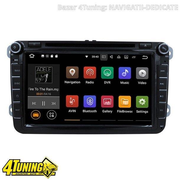 NAVIGATIE ANDROID 7.1 DEDICATA VW Tiguan NAVD-A9240 ECRAN 8'' CAPACITIV 16GB 2GB RAM INTERNET 3G