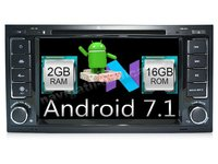 NAVIGATIE ANDROID 7.1 DEDICATA VW TOUAREG MULTIVAN TRANSPORTER T5 2GB RAM DVR CARKIT GPS NAVD-A9200