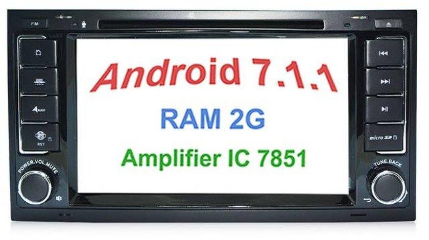 NAVIGATIE ANDROID 7.1 DEDICATA VW TRANSPORTER T5 2010 - 2015 2GB RAM DVR CARKIT GPS NAVD-A9200