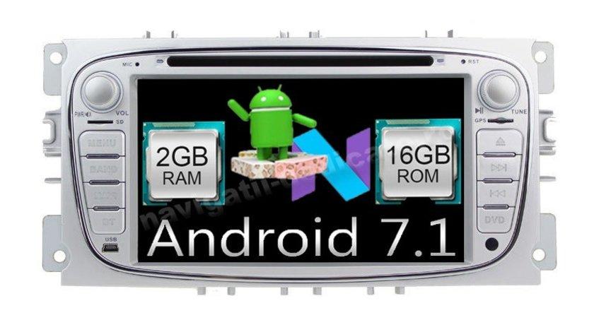 Navigatie Android 7.1 Ford Focus 2 S-MAX ECRAN CAPACITIV INTERNET NAVD-A9457