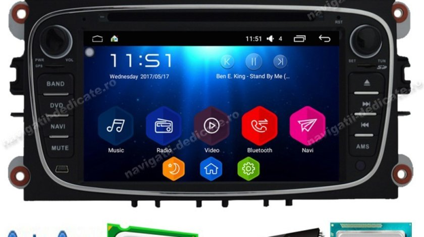 Navigatie Android 7.1 Octa Core Ford FOCUS 2 NAVD-T9457BK
