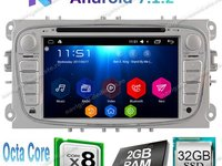 Navigatie Android 7.1 Octa Core Ford FOCUS 2 MONDEO S MAX TRANSIT NAVD-T9457