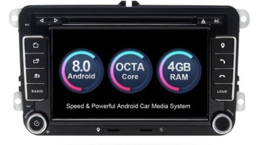 NAVIGATIE ANDROID 8.0 DEDICATA VW Eos XTRONS PB78MTVP 7'' INTERNET 4G OCTACORE 4GB RAM 32 GB