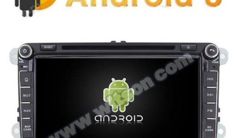 NAVIGATIE ANDROID 8.0 DEDICATA VW GOLF MK6 WITSON W2-V7617 ECRAN 8''CAPACITIV INTERNET 4G WIFI WAZE