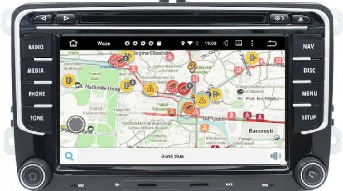NAVIGATIE ANDROID 8.0 DEDICATA VW PASSAT B6 B7 CC  ECRAN NAVD-P3700 7'' IPS CAPACITIV INTERNET