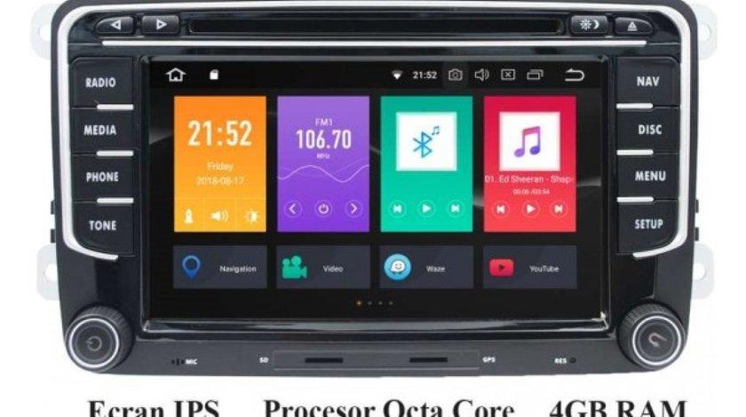 NAVIGATIE ANDROID 8.0 DEDICATA VW SKODA SEAT ECRAN NAVD-P3700 7'' IPS CAPACITIV INTERNET 4G WIFI OCT
